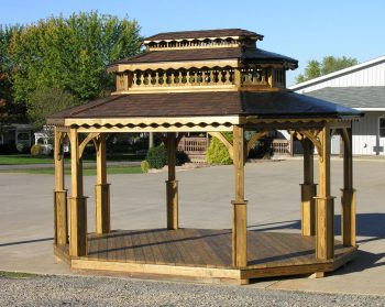 10' x 16' Octagon with Double Roof