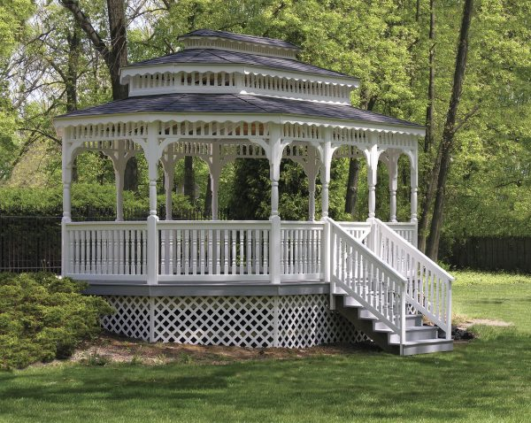 12' x 18' Heavy Duty Colonial with Platform and Stairs