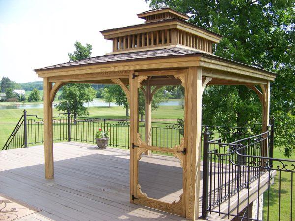 12' x 12' Wood with Weatherwood Dimensional Shingles